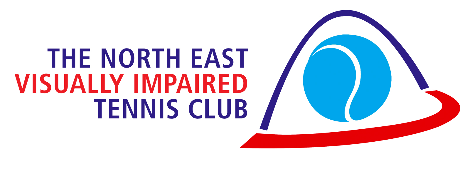 Image shows logo of the North East Visually Impaired Tennis Club