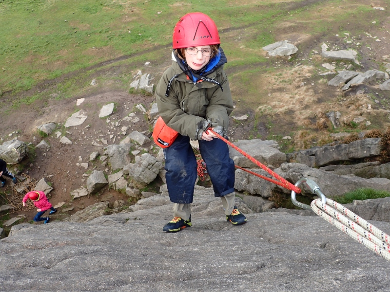 West Midlands member Freddie enjoying an outdoor climb!