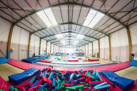 Our lovely centre with numerous trampolines, sprung floor and a foam pit!