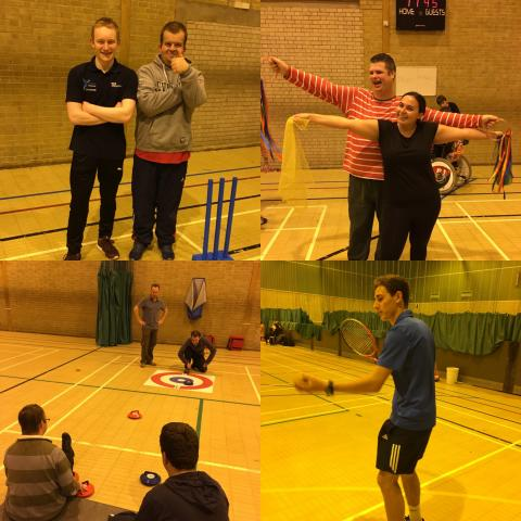 During the session we have a wide range of activities, as pictured we have kwick cricket, badminton, dance and new age kurling.