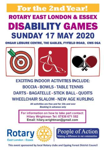 Disability Games flyer