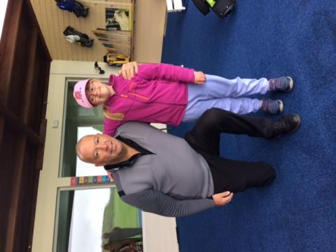 Golf lesson with golf pro and young female SDGC member