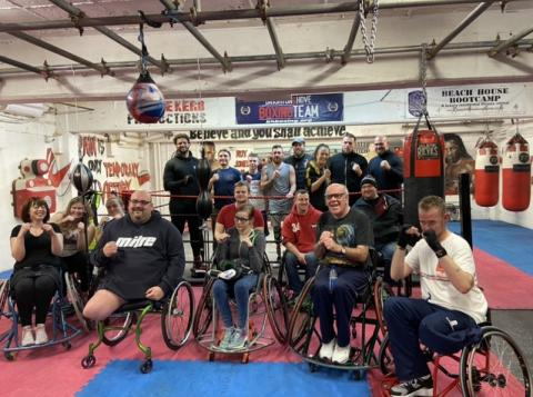 Members of the Wheelchair Boxing Class.
