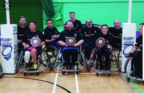 Hereford Harriers Wheelchair Rugby Club attending and winning the Championship finals of the Wheelchair Rugby League
