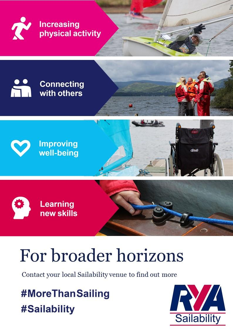 Royal Yachting Association Sailability flyer