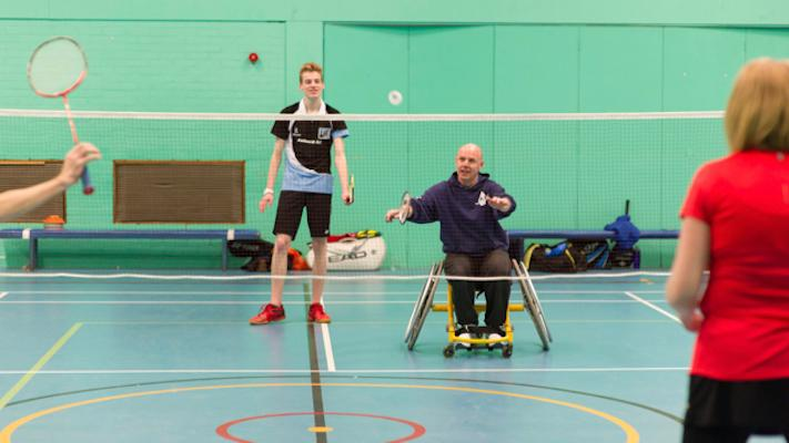 Wheelchair badminton photo