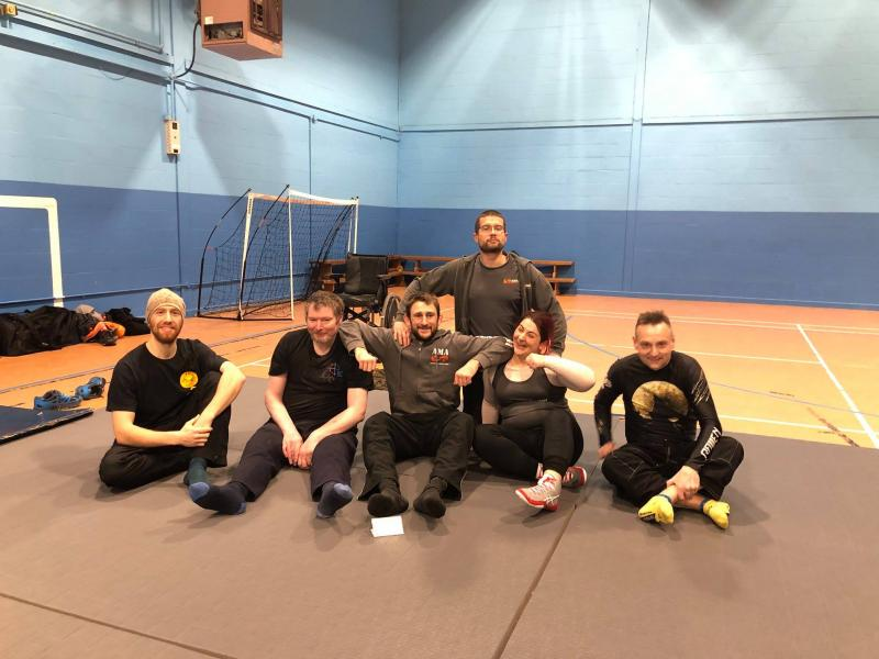 After class photo of TeamAMA. At our Bristol class