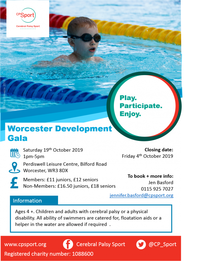 Worcester Development Gala- 19th October- 1pm-5pm