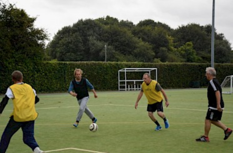 One of our Walking Football sessions.