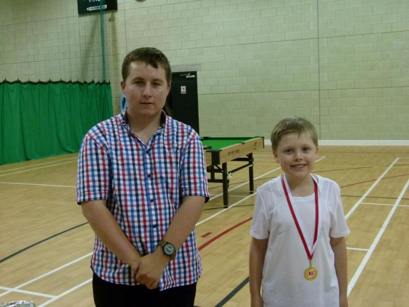 Two young players with their awarded medals