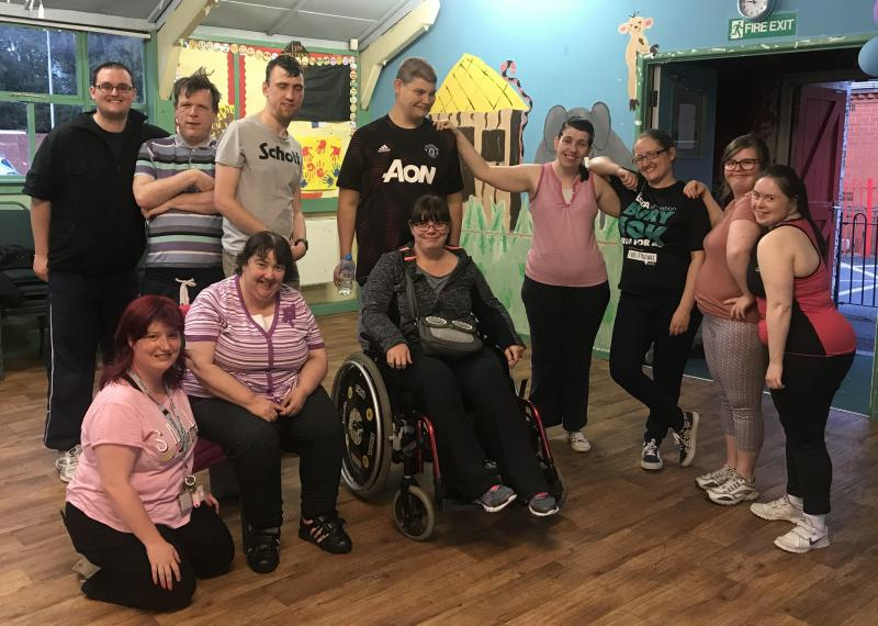 Group photo of boccia players