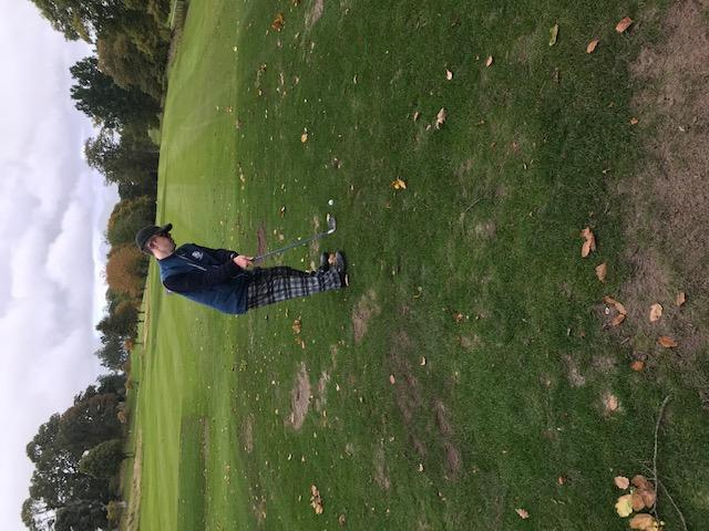 SDGC member about to tee off on the golf course