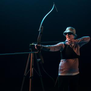 A visually impaired archer