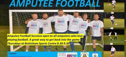Amputee Football in partnership with Steel Bones, Cambridge United and Cambs FA