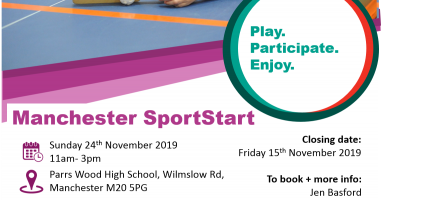 Manchester SportStart- 24th November- 11am- 3pm