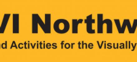 SAVI Northwest logo (Sports and Activities for the VisuallyImpaired) Yellow / Black Hi Vis logo