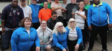 Image of some north east visually impaired tennis players